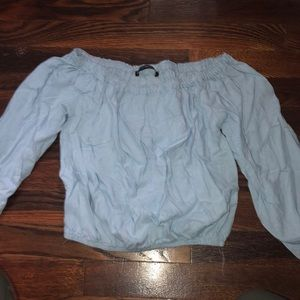 Brandy Melville blue cropped blouse
